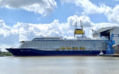 Spirit of Adventure floats out ahead of sea trials