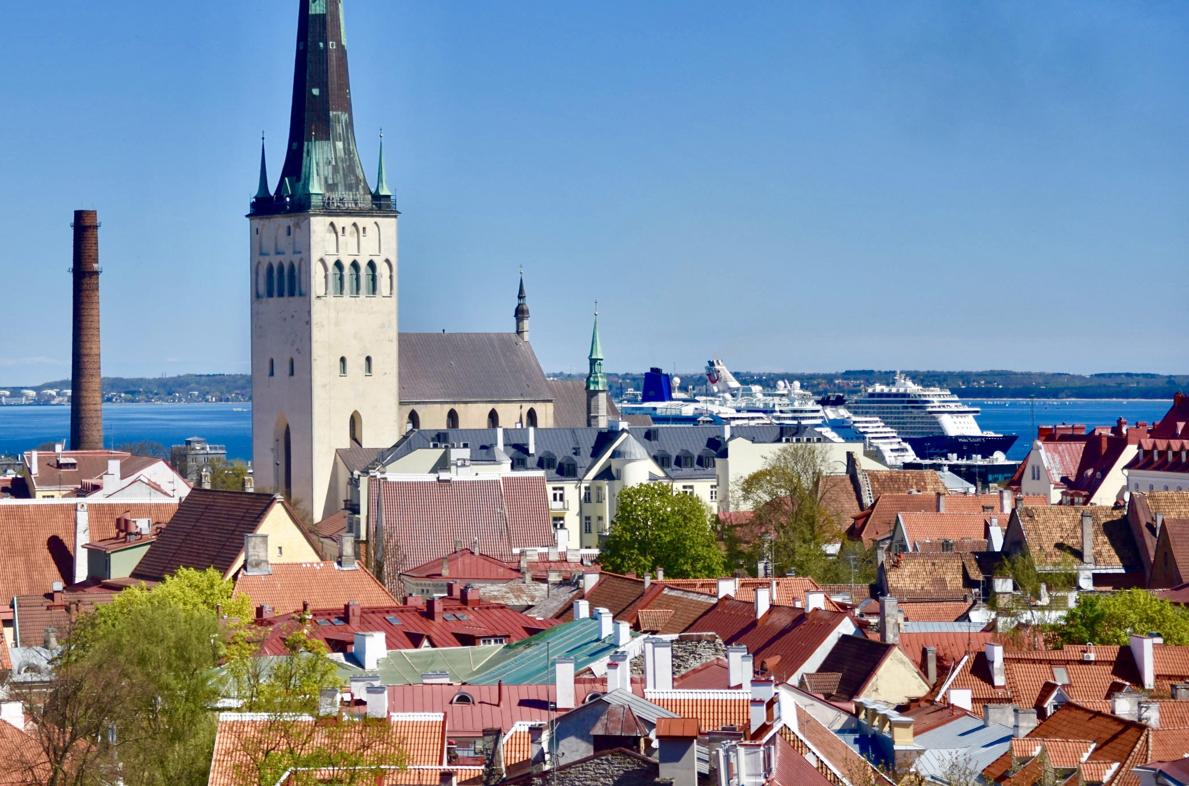 Tallin cruise port ship