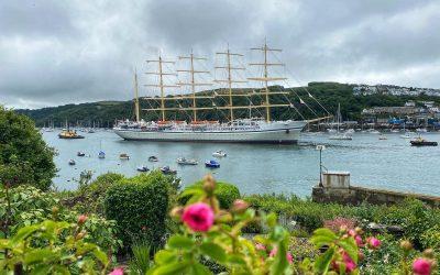 Golden Horizon, the world's largest passenger sailing ship visits Cornwall
