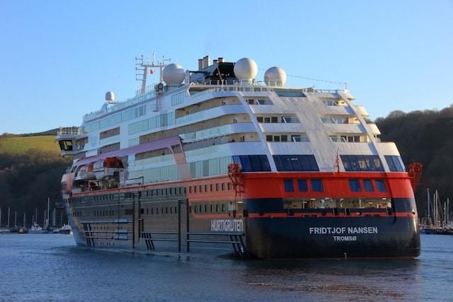 Hurtigruten in Dartmouth credit credit to Dart Harbour