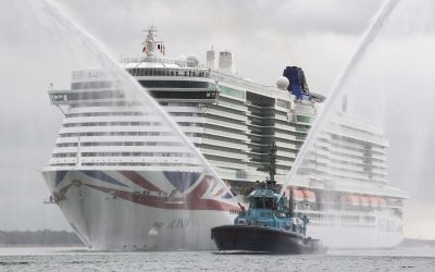 P&O Cruises Iona arrives in Southampton ahead of tonight's official naming ceremony.