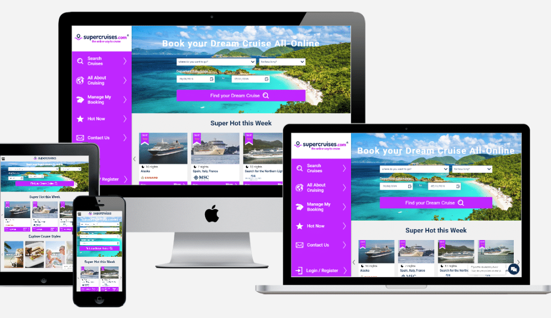 Supercruises.com, the UK's first All-Online cruise booking website.