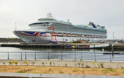 North Tyneside bids farewell to P&O Cruises 'Azura' after several months at Port of Tyne