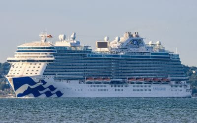 Sky Princess arrives in the UK for the first time