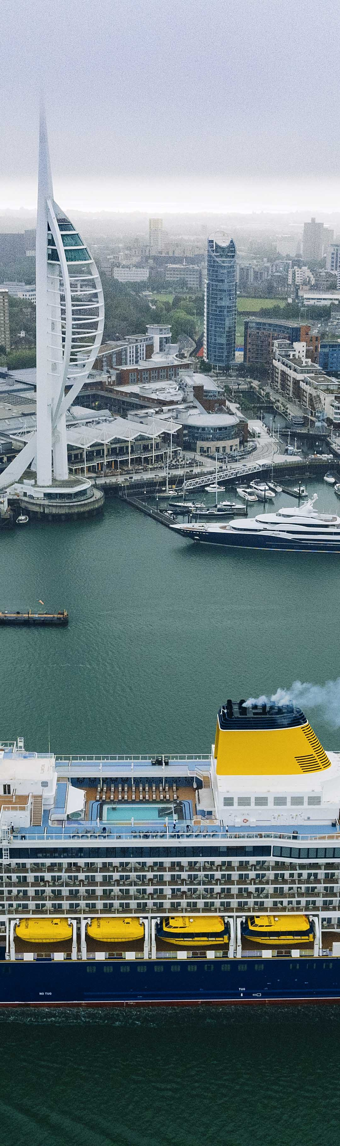 Spirit of Adventure sails into Portsmouth in preparation for city's first naming ceremony
